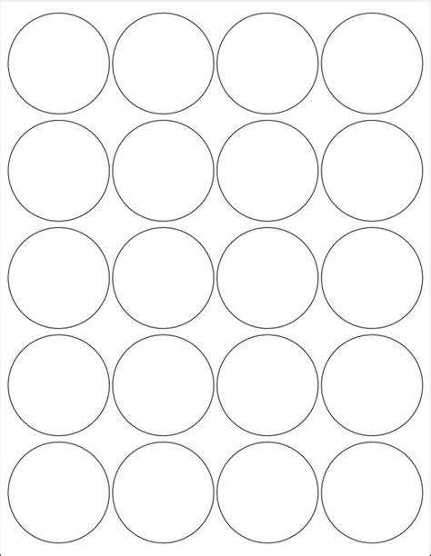 2 circle label template 2 inch labels stickers 5 sheets by poofyprints on etsy