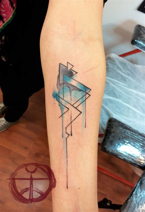 watercolor tattoo geometric geometric don t why but i this mountains