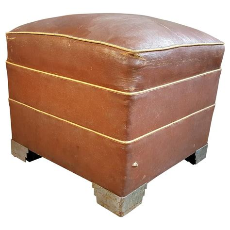 art deco ottoman oversized art deco ottoman footstool stepped nickel
