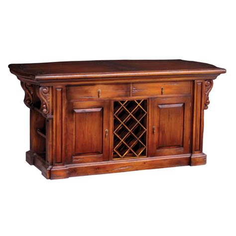 presidential kitchen island with corbels with without