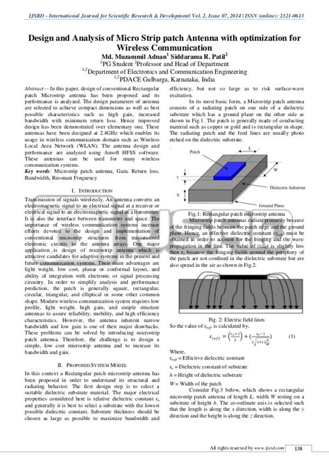 design and analysis of microstrip patch antenna with optimization for