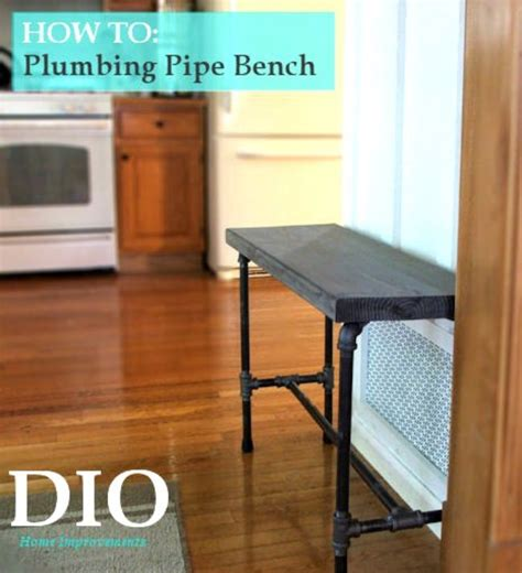 plumbing pipe bench 14 incredible ways to use industrial pipe decorate craft