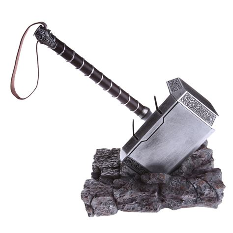 the avengers thor hammer replica cosplay stand base resin