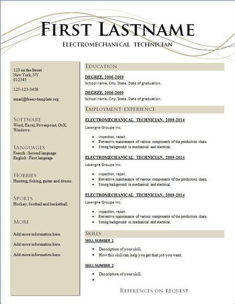 Download Free Resume Template Resume Maker Word Free Download Download Pinterest Resume Template Maker