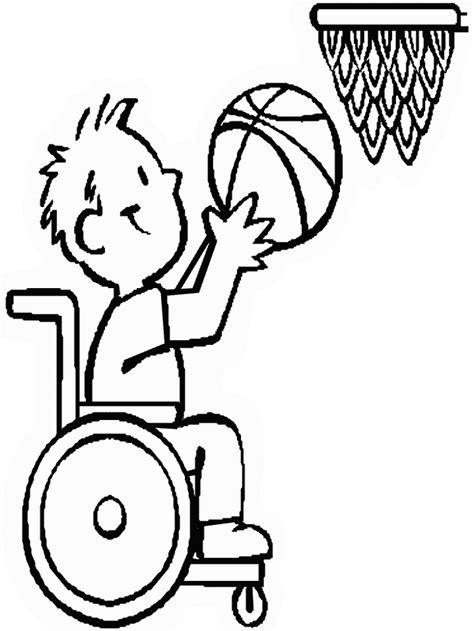 imagenes para colorear rueda kleurplaten en zo 187 kleurplaat van rolstoel basketbal