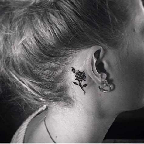 dragon tattoo behind ear 40 inspiring tiny ear tattoos that make you say i need