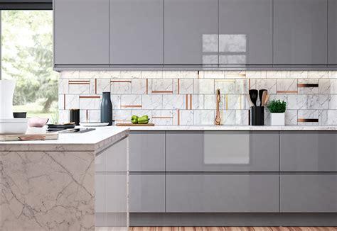 Colour Ideas For Kitchen strada gloss light grey amp dust grey kitchen stori