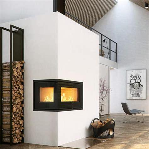 2 Sided Wood Burning Fireplace by Rais Stoves Rais 500 2 Insert Wood Burning Two Sided