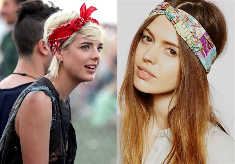 Hairstyles With Bandanas by Festival Hair And Boho Looks To Feel The Vibes