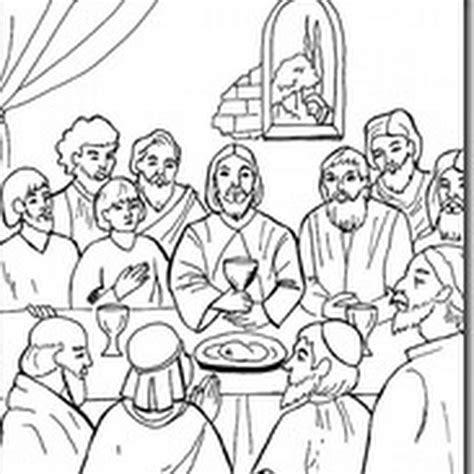 imagenes jueves santo para colorear ultima cena dibujos para colorear jugarycolorear