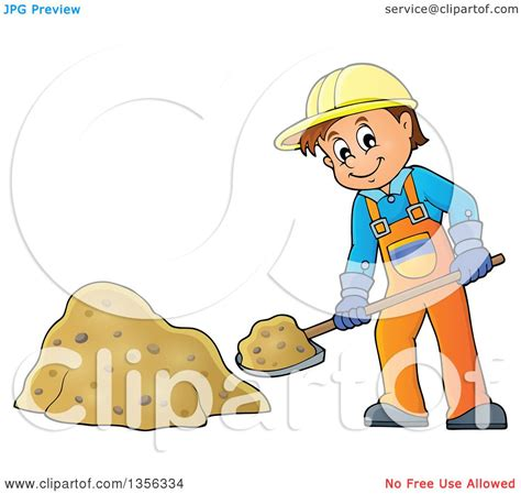 royalty free building contractor clip art vector images clipart of a cartoon caucasian male construction worker