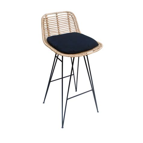 chaises de bar design chaise de bar design en rotin 69cm capurgana drawer