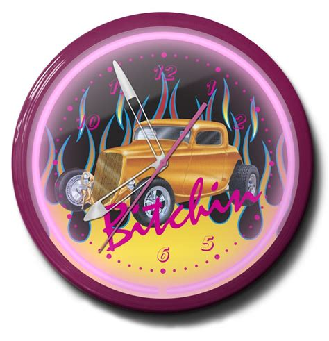 hot clock themes hot rod neon clocks bitchin themes high quality 20 inch