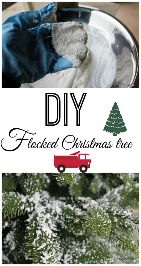 diy flocked tree debbiedoos