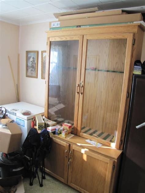 wood and glass gun cabinet wood gun cabinet with glass display doors