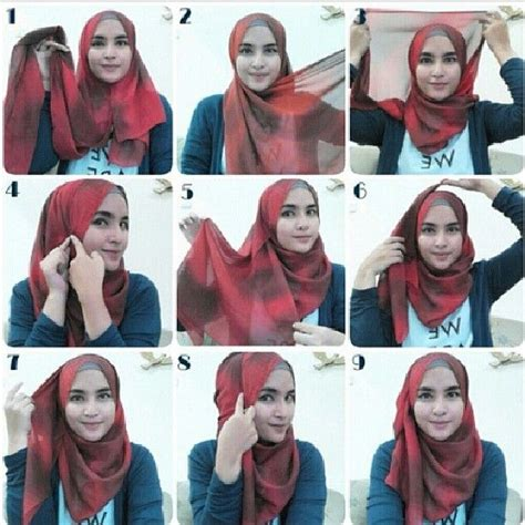 tutorial hijab simple selendang 17 best images about hijab tutorials on pinterest simple