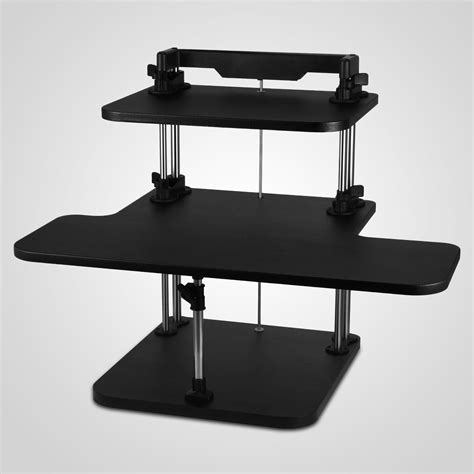 adjustable standing desk for home office 3 tier adjustable computer standing desk home office