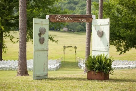 Wedding Arch Using Doors by Mint Barn Door Ceremony Entrance At Sweet Seasons Farm In