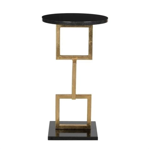 iron accent table safavieh cassidy iron and marble accent table in gold and