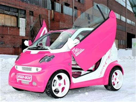 smart car pink speed box smart fortwo think pink smart car forums