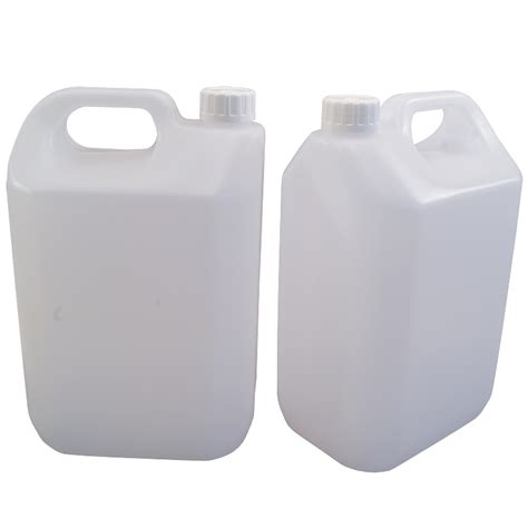 L Gallon by 5l 1 Gallon Jerrican Style Plastic Bottle Pack Of 2