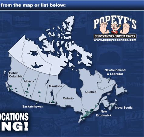 i supplements location popeye s supplements canada 140 locations across