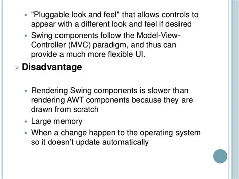 advantages of swing in java swt vs swing