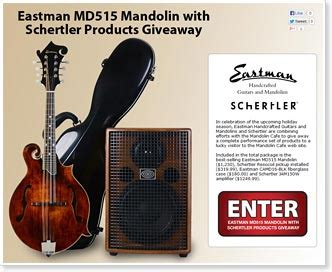 Mandolin Giveaway - mandolin cafe eastman and schertler giveaway