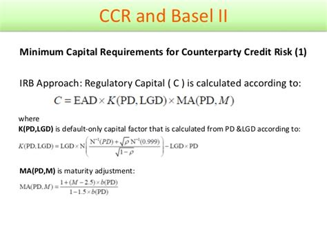Credit Risk Premium Formula Counterparty Credit Risk General Review