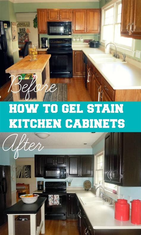 how to gel stain your kitchen cabinets step by step
