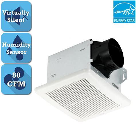 bathroom fan with humidity sensor delta breez integrity series 80 cfm ceiling bathroom