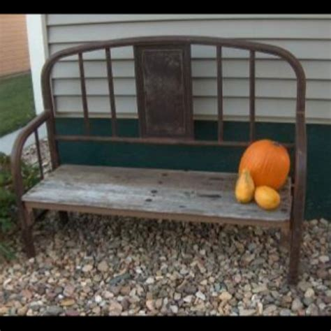 bench made from bed bench made out of bed cheap and easy diy s pinterest
