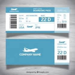 boarding pass template for word boarding pass template in blue tones vector free