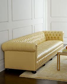 butter yellow sofa slipcover hickory tannery zerenity 131 5 quot l chesterfield leather sofa