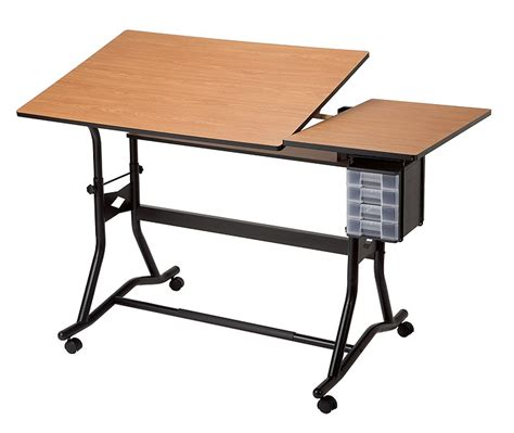 Alvin Craftmaster Iii Split Top Drawing Table Computer Drafting Table Mat