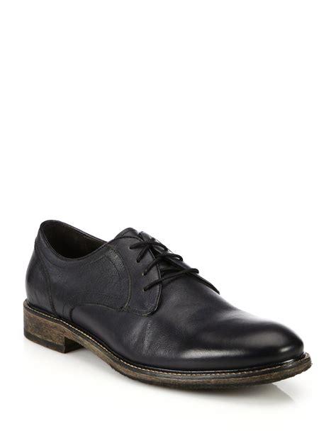 varvatos shoes varvatos black side leather derby shoes for lyst