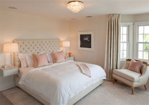 Pink And Beige Curtains Decor Pink And Beige Bedroom Transitional Bedroom Robyn Karp Interiors