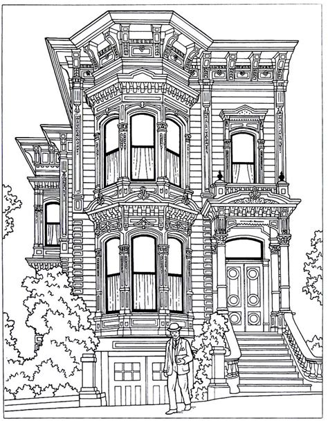 coloring pages victorian houses 20 best victorian houses coloring book pages images on