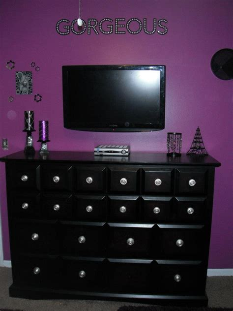 purple and black room black and purple bedroom rooms pinterest
