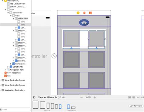 autolayout view height xcode storyboard ios autolayout two views of equal