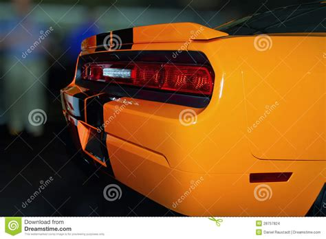 bright orange cars bright orange new american sports car stock photo image