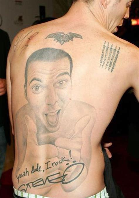 steve o tattoo 3 steve o back self portrait dumb