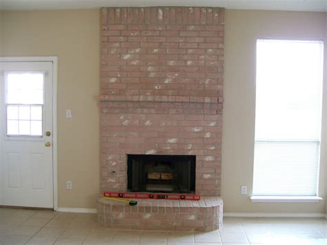 easy fireplace makeover easy brick fireplace makeovers home design blog