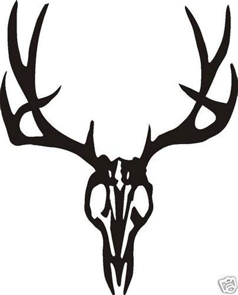 large typical mule deer skull decal wall or car window ebay