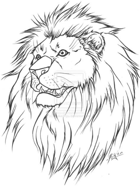 lion outline tattoo ideas and designs page 7
