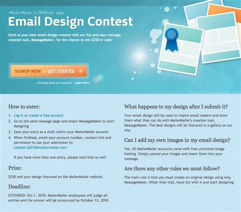 Design Competition Email | email marketing design contest winner receives 250