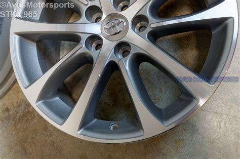 toyota oem wheels 2015 toyota avalon oem 18 quot factory wheels solara camry