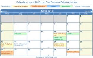 Calendario Junho De 2018 Calend 225 Junho 2018 Para Imprimir Estados Unidos