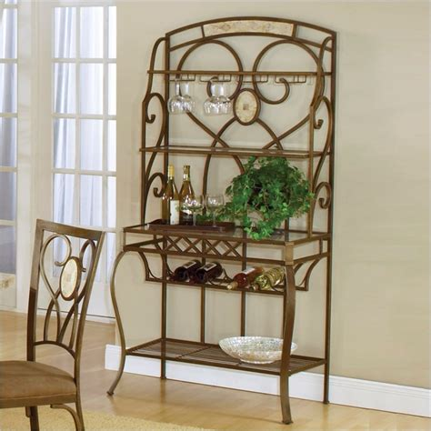 corner bakers rack with wine rack bakers39s racks house amp home corner bakers rack with