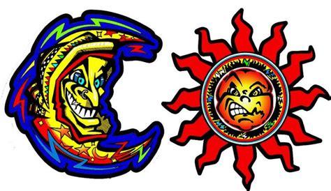 rossi logo racing land garage valentino rossi moon sun logo